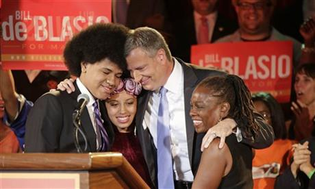 White mayor, black wife: NYC shatters an image