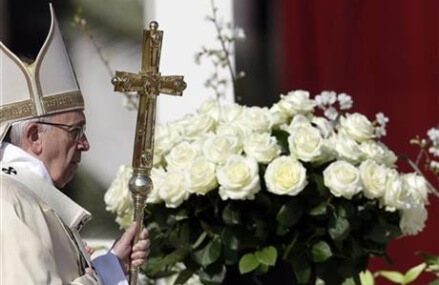 Pope at Easter recalls victims of 'blind, brutal terrorism'