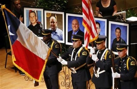 Funerals Wednesday for 3 of 5 slain Dallas police officers