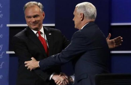 Steady Pence gets wide praise, but Kaine lands jabs on Trump